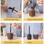 Brew It Stick šedobílý
