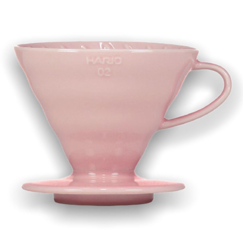 Hario keramický dripper na kávu V60-02 růžový