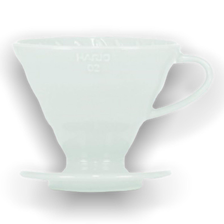 Hario keramický dripper na kávu V60-02 bílý