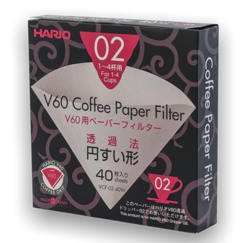Hario papírové filtry V60-02 40 ks