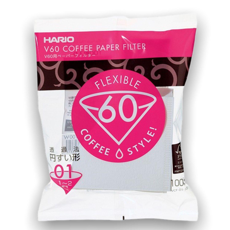 Hario papírové filtry V60-01 100 ks