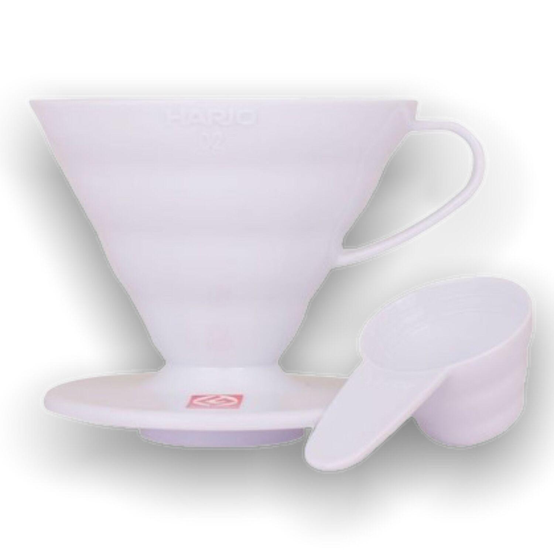 Hario plastový dripper na kávu V60-02 bílý