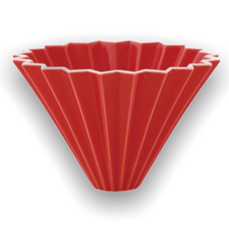 Origami keramický dripper M červený