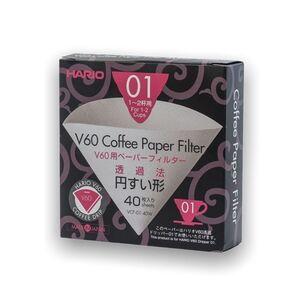 Hario papírové filtry V60-01 40 ks