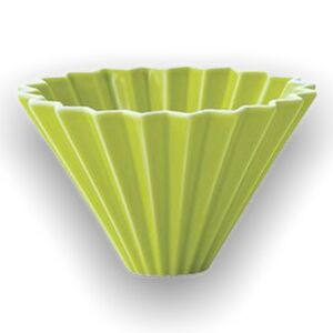 Origami keramický dripper M zelený