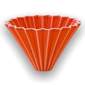 Origami keramický dripper M oranžový