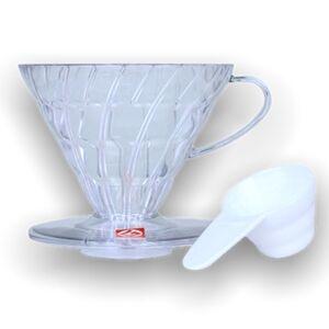 Hario plastový dripper na kávu V60-02 čirý
